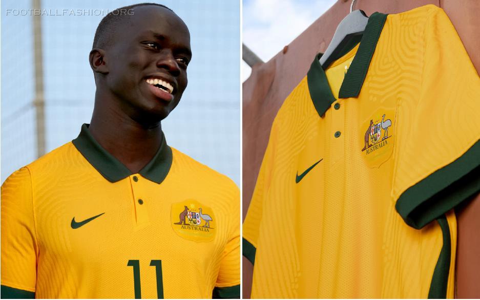 Australia 2020 2021 Nike Home and Away 2020/21 Football Kit, Soccer Jersey, 2020-21 Shirt