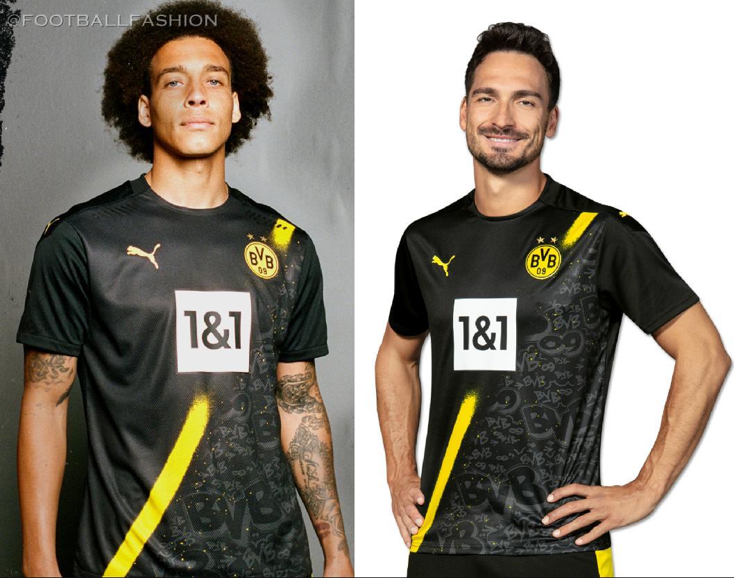 Borussia Dortmund 2020/21 PUMA Away Kit - FOOTBALL FASHION