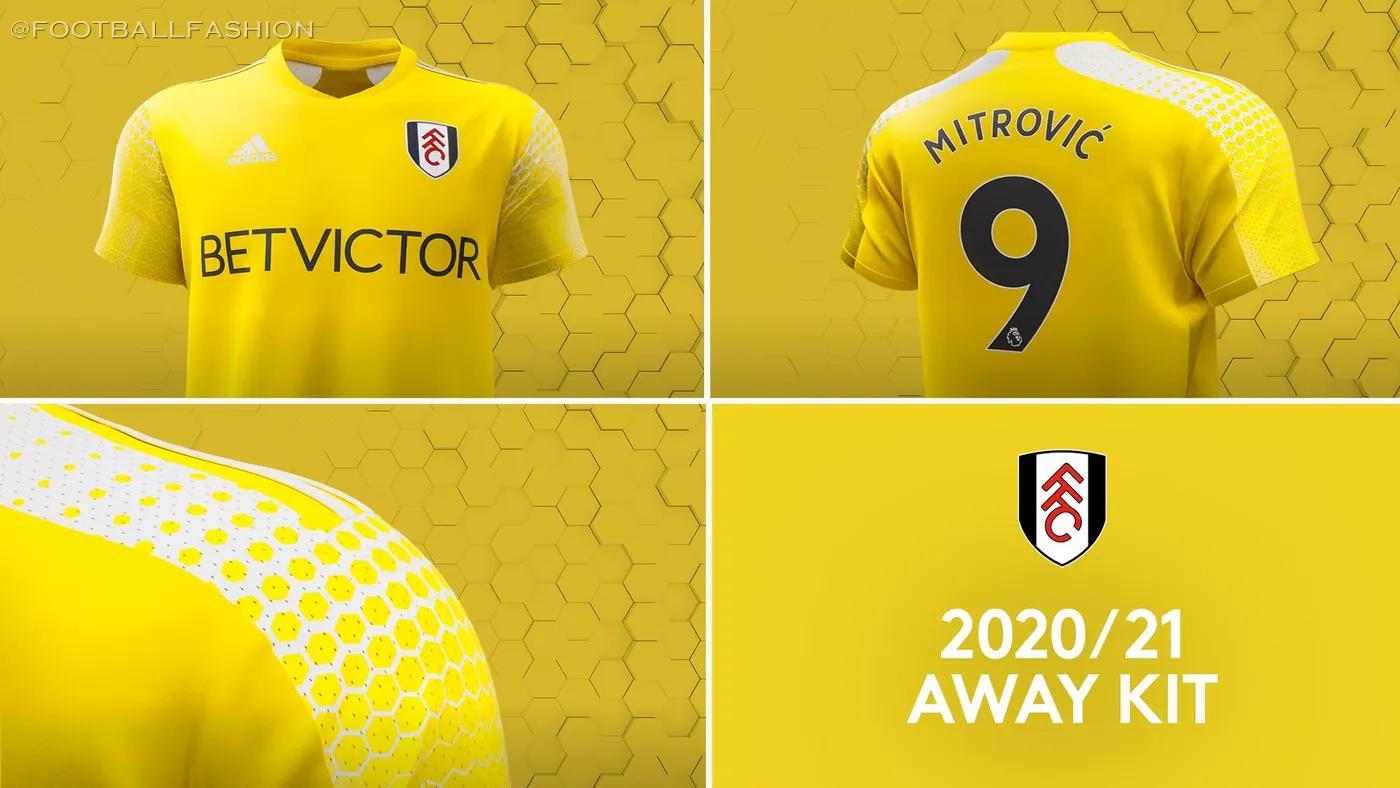 Fulham 2020 2021 adidas Home and Away Football Kit, 2020-21 Soccer Jersey, 2020/21 Shirt