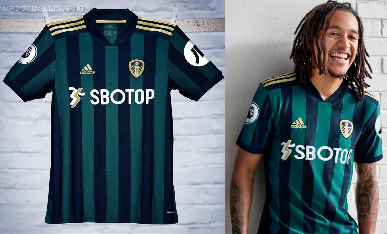 Leeds United 2020 2021 adidas Away Football Kit, 2020/21 Soccer Jersey, 2020-21 Shirt, Camiseta de Futbol, Trikot, Maillot