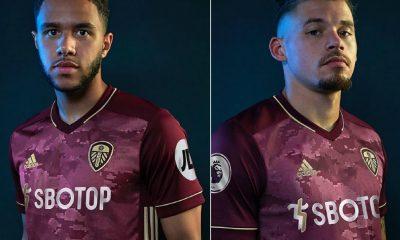Leeds United 2020 2021 adidas Maroon Third Football Kit, 2020/21 Soccer Jersey, 2020-21 Shirt, Camiseta de Futbol, Trikot, Maillot
