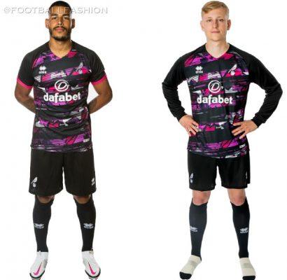 Norwich City 2020 2021 Errea Third Football Kit, 2020/21 Soccer Jersey. 2020-21 Shirt