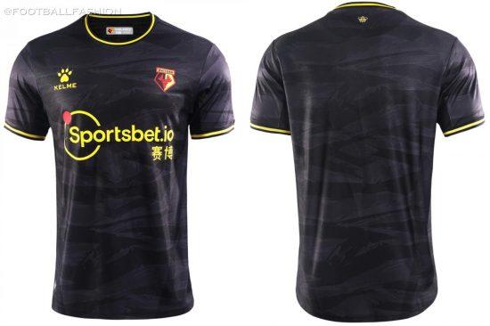 Watford FC 2020 2021 Kelme Third Football Kit, 2020/21 Soccer Jersey, 2020-21 Shirt
