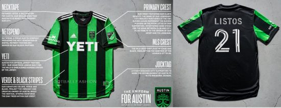 Austin FC 2021 adidas Home Soccer Jersey, 2020-21 MLS Football Kit, 2020/21 Shirt, Camiseta de Futbol