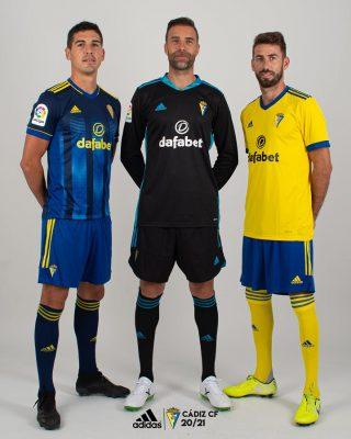 Cádiz CF 2020 2021 adidas Home and Away Football Kit, 2020-21 Soccer Jersey, 2020/21 Shirt. Camiseta de Futbol