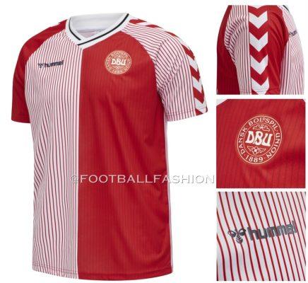 Denmark 1986 World Cup hummel Retro Home Football Kit, Soccer Jersey, Shirt, landsholdstrøje - hjemmebane, udebane