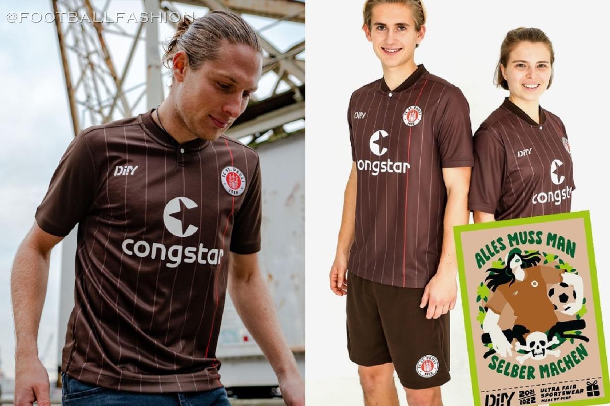 Fc St Pauli 2021 22 Diiy Home Kit Football Fashion