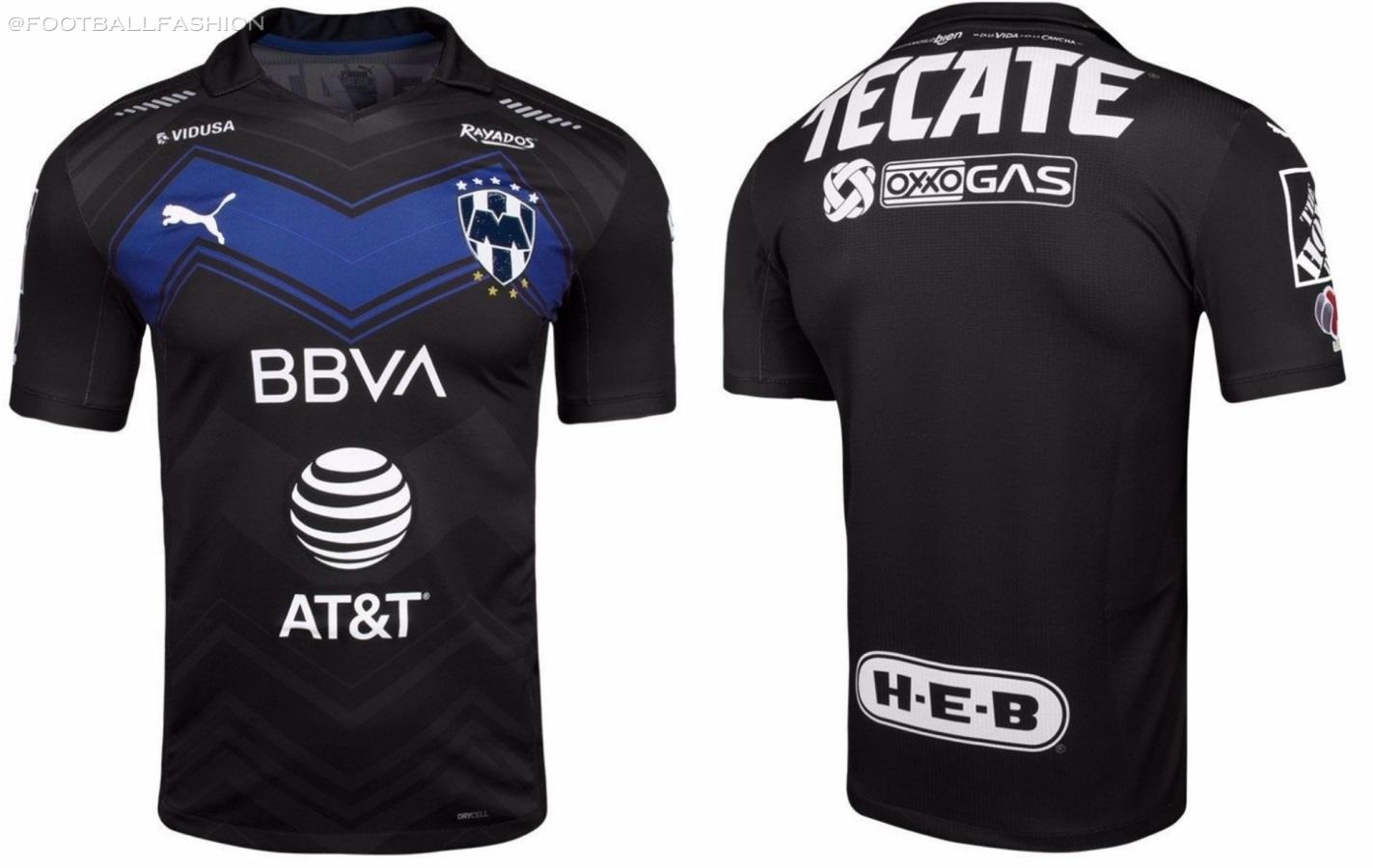 Rayados de Monterrey Black 2021 PUMA Third Soccer Jersey, Shirt, Football Kit, Camiseta de Futbol Tercera