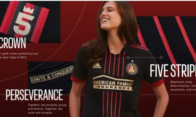 Atlanta United 2021 adidas 'BLVCK' Home Football Kit, Soccer Jersey, Shirt, Camiseta de Futbol MLS