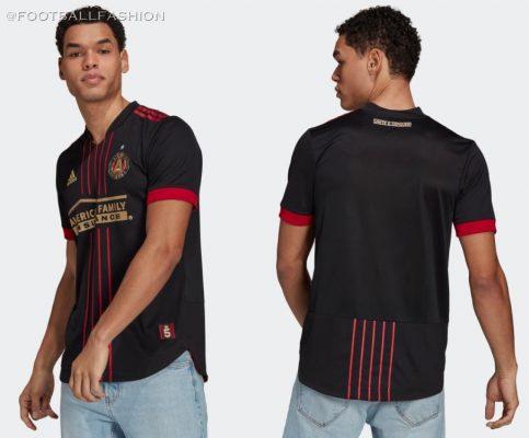 Atlanta United 2021 adidas 'BLVCK' Home Football Kit, Soccer Jersey, Shirt, Camiseta de Futbol MLS