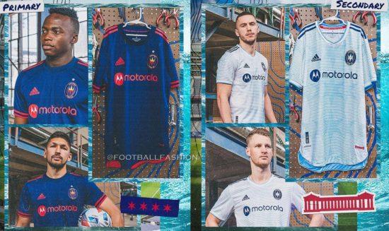 Chicago Fire 2021 adidas Home and Away MLS Soccer Jersey, Shirt, Football Kit, Camiseta de Futbol