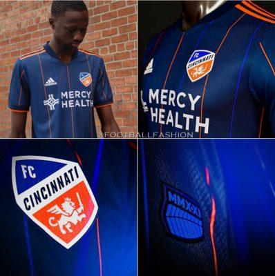 FC Cincinnati 2021 adidas Home Soccer Jersey, Football Kit, Shirt, Camiseta de Futbol MLS