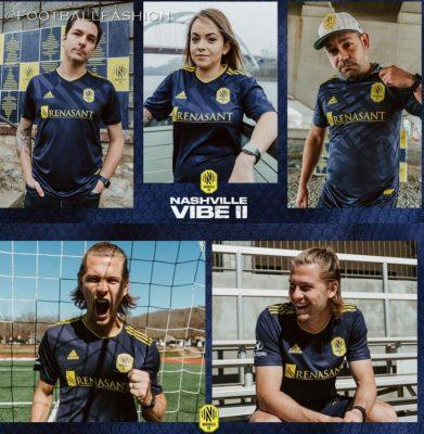 Nashville SC Vibe II 2021 2022 adidas Away Soccer Jersey, Football Kit, Shirt, Camiseta de MLS