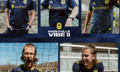 Nashville SC Vibe II 2021 adidas Away Soccer Jersey, Football Kit, Shirt, Camiseta de MLS