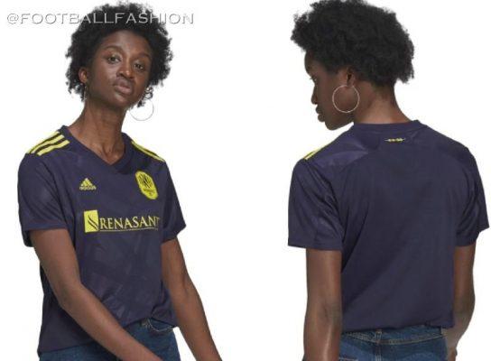 Nashville SC Vibe II 2021 adidas Away Soccer Jersey, Football Kit, Shirt, Camiseta de MLS