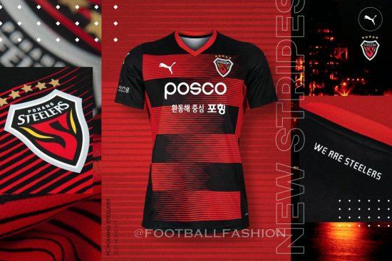 Pohang Steelers 2021 PUMA Football Kit, Soccer Jersey, Shirt