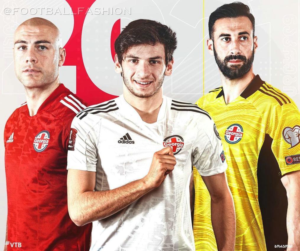 Georgia 2021 2022 adidas Home and Away Soccer Jersey, 2021/22 Football Kit, 2021-22 Shirt