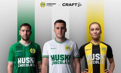 Hammarby 2021 Craft Home Football Kit, Soccer Jersey, Shirt, Matchtröja