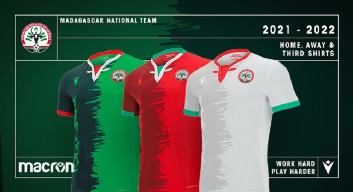 Madagascar 2021 2022 Macron Home, Away and Third Football Kit, Soccer Jersey, Shirt, Maillot