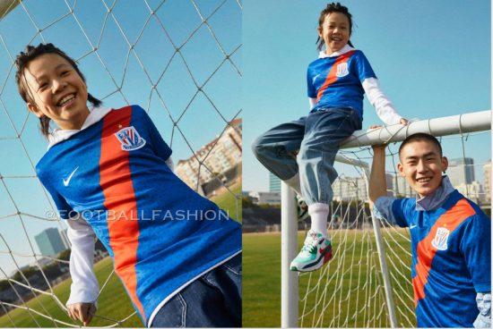 Shanghai Shenhua 2021 Nike Home Football Kit, Soccer Jersey, Shirt