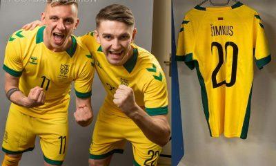 Lithuania 2021 2022 hummel Home Football Kit, 2021-22 Soccer Jersey, 2021/22 Shirt, Lietuvos Futbolo Rinktinės Marškinėliai