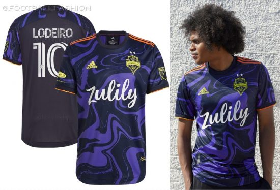 Seattle Sounders 2021 2022 Jimi Hendrix adidas Football Kit, Soccer Jersey, Shirt. Camiseta de Futbol MLS