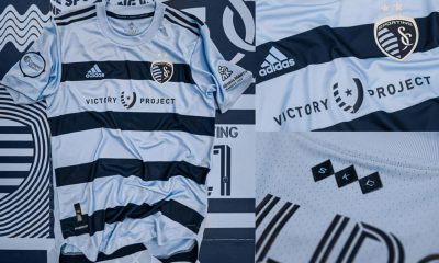 Sporting Kansas City 2021 adidas Home Soccer Jersey, Football Kit, Shirt, Camiseta de Futbol MLS