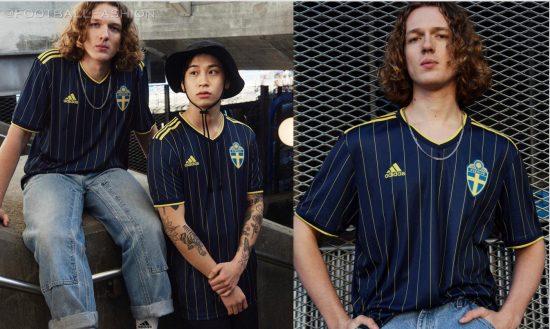 Sweden EURO 2020 2021 2022 adidas Away Football Kit, Soccer Jersey, Shirt, Matchtröja