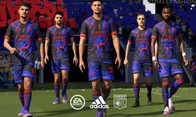 Olympique Lyon 2021 adidas Digital Fourth Football Kit, Soccer Jersey, Shirt, Camisa, Maillot