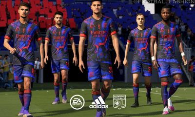 Olympique Lyon 2021 adidas Digital Fourth Football Kit, Soccer Jersey, Shirt, Camisa, Maillot