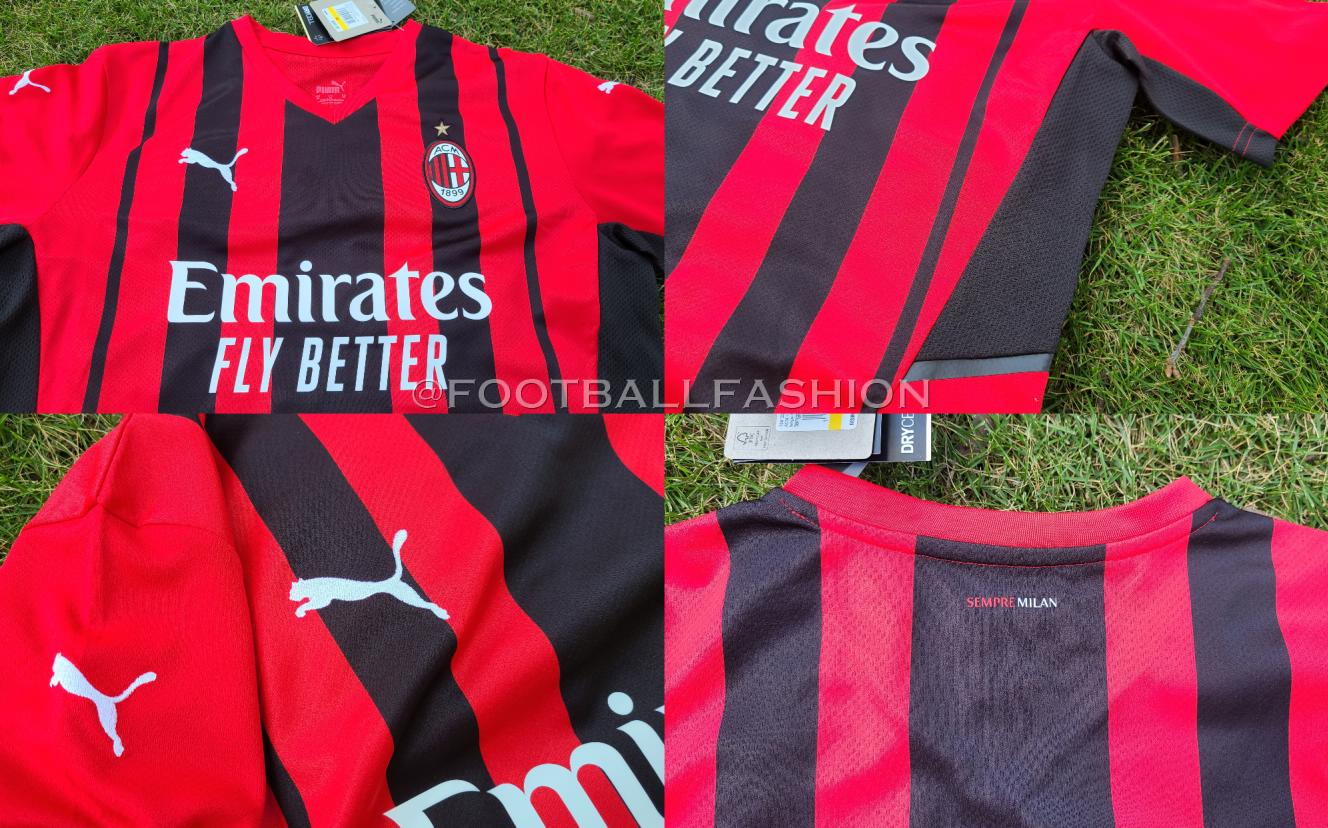 Unboxed & Up-Close: AC Milan 2021/22 PUMA Home Jersey - FOOTBALL ...