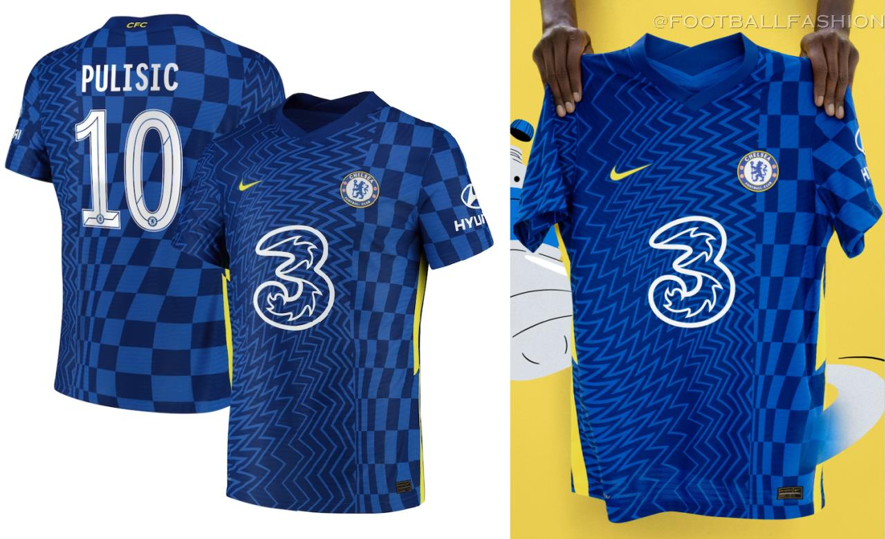 Chelsea FC 2021 2022 Nike Home Football Kit, 2021-22 Soccer Jersey, 2021/22 Shirt, Maillot, Camiseta, Camisa, Maglia, Gara, Trikot, Dres
