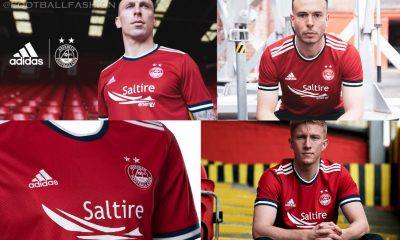 Aberdeen FC 2021 2022 adidas Home Football Kit, 2021-22 Shirt, 2021/22 Soccer Jersey