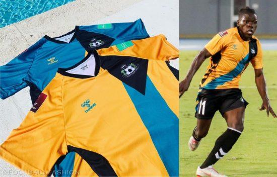 Bahamas 2021 2022 hummel Home and Away Football Kit, 2021/22 Soccer Jersey, 2021-22 Shirt