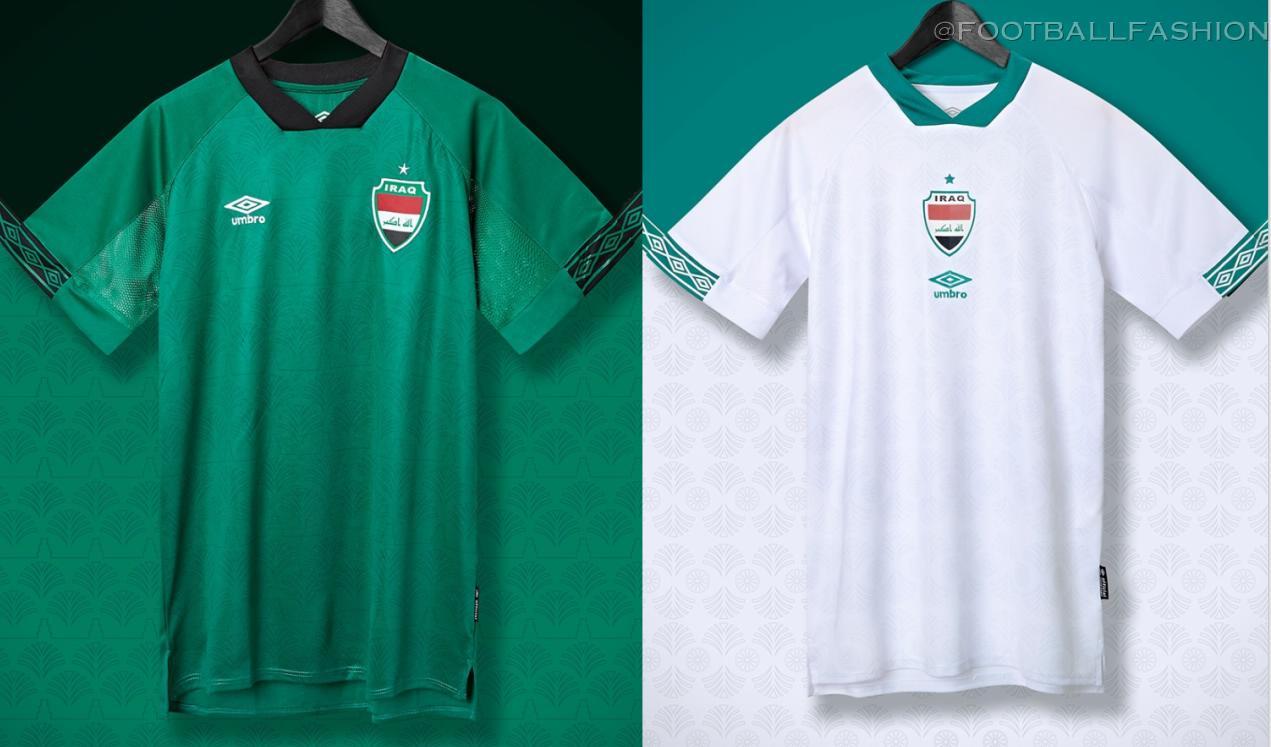 Iraq 2021 2022 Umbro Home and Away Football Kit, 2021-22 Soccer Jersey, 2021/22 Shirt