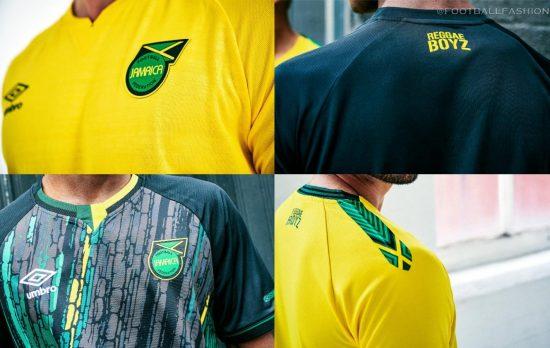 Jamaica 2021 2022 Umbro Home and Away Football Kit, 2021/22 Soccer Jersey, 2021-22 Shirt