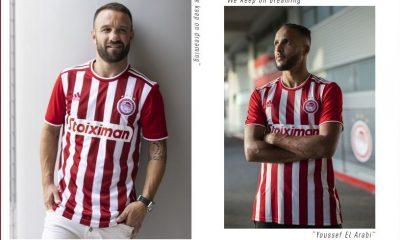 Olympiacos 2021 2022 adidas Home Football Kit, 2021/22 Soccer Jersey, 2021-22 Shirt
