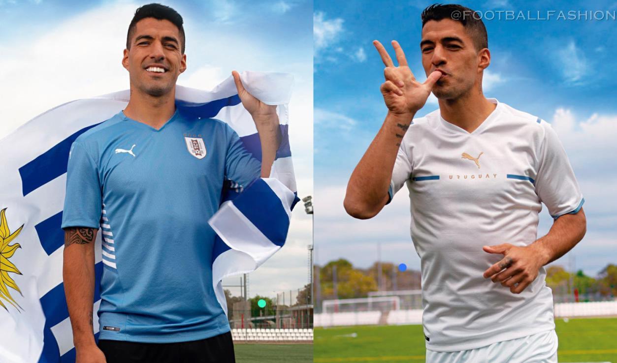Uruguay Copa América 2021 2022 PUMA Home and Away Football Kit, 2021-22 Soccer Jersey, 2021/22 Shirt, Camista de Futbol 21/22