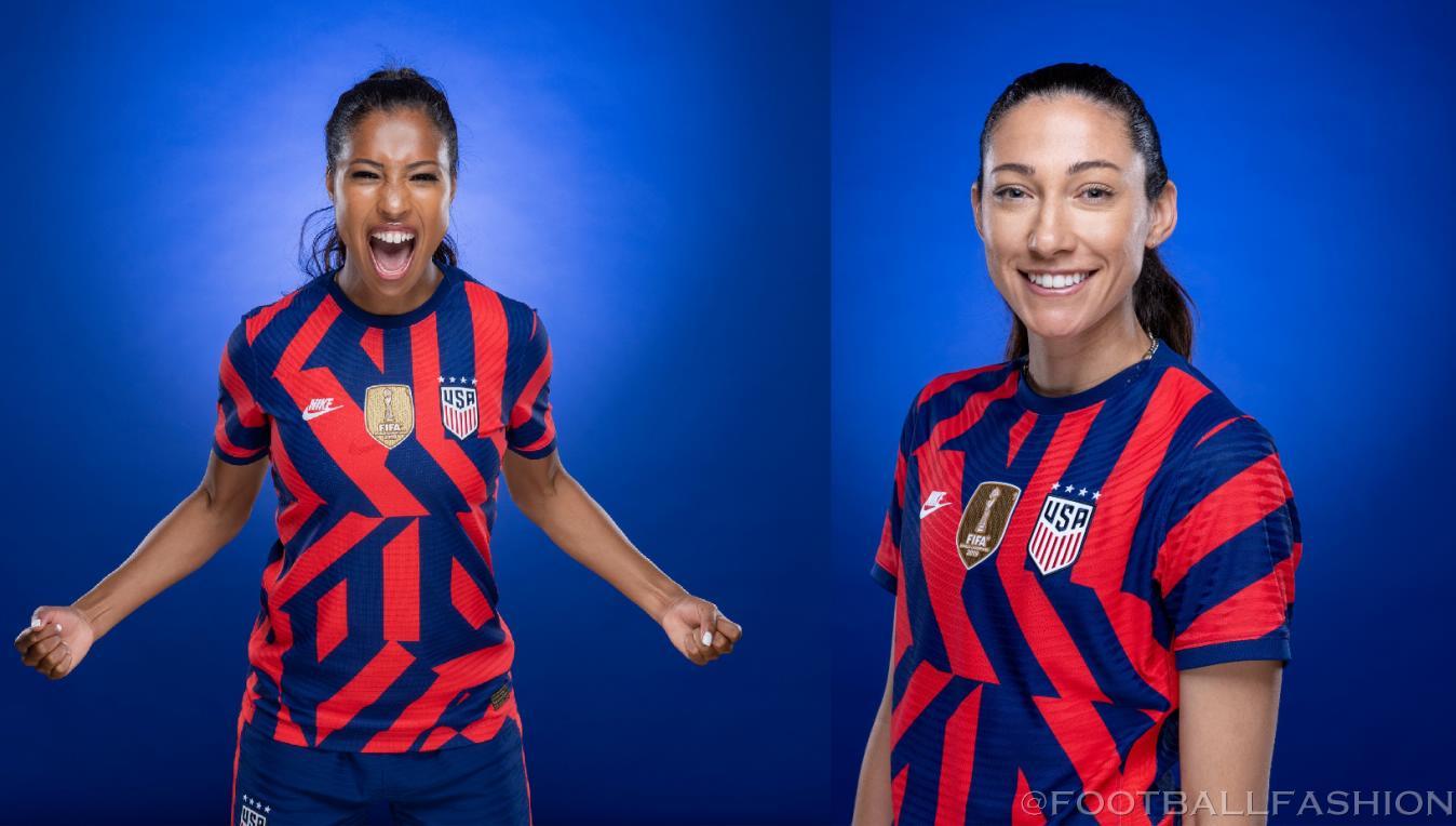 USA 2021 2022 Red Blue Away Soccer Jersey, 2021-22 Shirt, 2021/22 Football Kit, Camiseta de Futbol 21/22