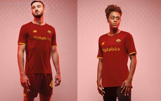 AS Roma 2021/22 New Balance Home Kit - FOOTBALL FASHION
