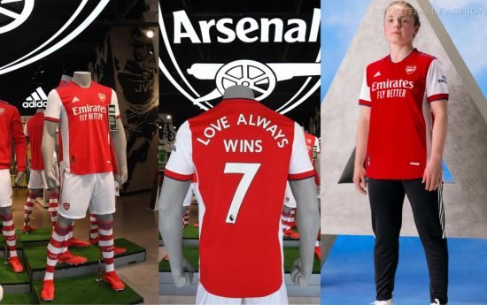 Arsenal FC 2021 2022 adidas Home Football Kit, 2021/22 Shirt, 2021-22 Soccer Jersey, Maillot, Camiseta, Camisa, Trikot, Tenue