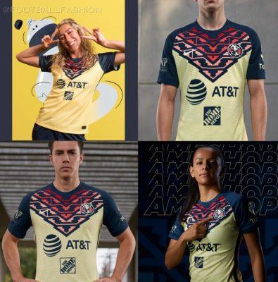 Club América 2021 2022 Nike Yellow Home Soccer Jersey, 2021-22 Football Shirt, 2021/22 Kit, Camiseta de Visita de Futbol 21/22
