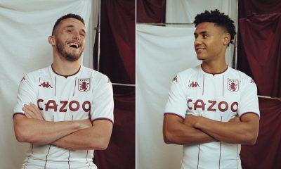 Aston Villa 2021 2022 Kappa White Away Football Kit, 2021-22 Soccer Jersey, 2021/22 Football Kit