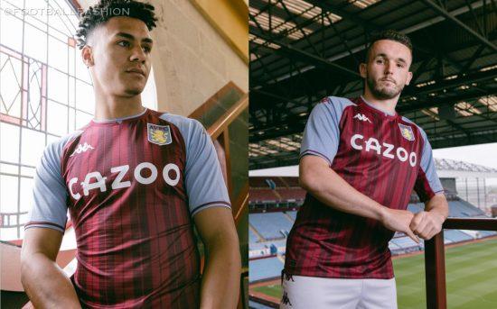 Aston Villa 2021 2022 Kappa Home Football Kit, 2021-22 Soccer Jersey, 2021/22 Football Kit