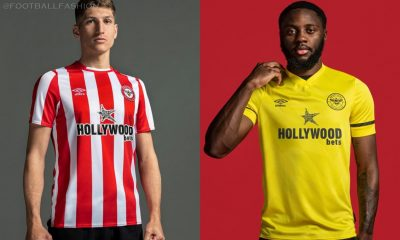 Brentford FC 2021 2022 Umbro Home and Away Football Kit, 2021-22 Shirt, 2021/22 Soccer Jersey