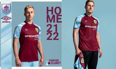 Burnley 2021 2022 Umbro Home Football Kit, 2021-22 Soccer Jersey, 2021/22 Shirt
