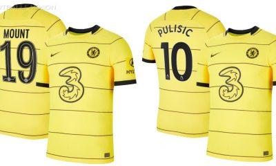 Chelsea FC 2021 2022 Nike Yellow Away Football Kit, 2021-22 Soccer Jersey, 2021/22 Shirt, Maillot, Camiseta, Camisa, Maglia, Gara, Trikot, Dres