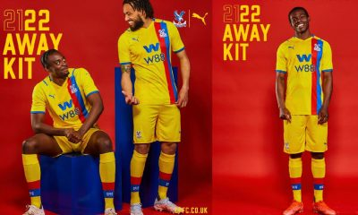 Crystal Palace 2021 2022 PUMA Away Football Kit, 2021/22 Soccer Jersey, 2021-22 Premier League Shirt