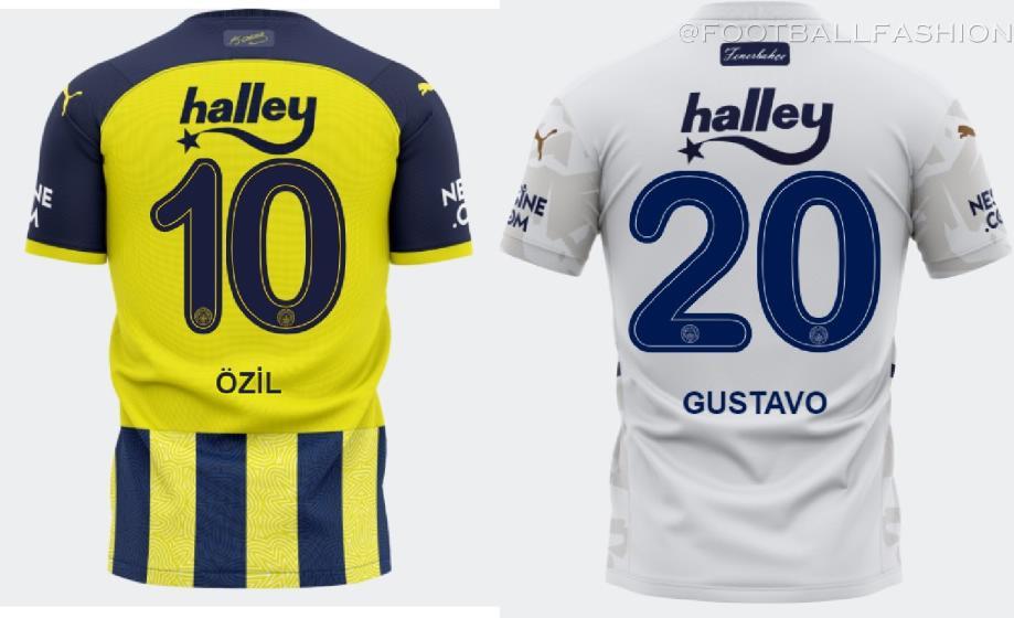 Fenerbahçe 2021 2022 PUMA Home and Away 21-22 Football Kit, 2021/22 Soccer Jersey, 2021-2022 Shirt, Formasi, Formalari