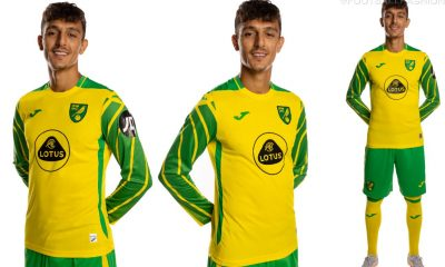 Norwich City 2021 2022 Joma Home Football Kit, 2021-22 Soccer Jersey, 2021/22 Shirt, Camiseta 21-22, 21/22 Trikot